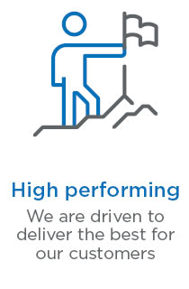 High performing - we are driven to deliver the best for our customers