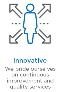 Innovative - we pride ourselves on continuous improvement and quality services