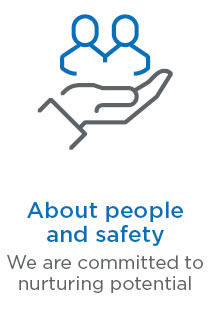 About people and safety - we are committed to nurturing potential